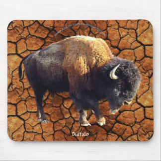 Plains Buffalo, Rustic Earth Wildlife Art Mousepad