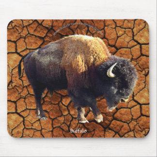 Plains Buffalo Rustic Earth Wildlife Art Mousepad