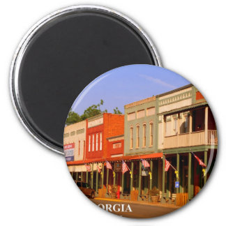 PLAINS, GEORGIA - Home of President Jimmy Carter 2 Inch Round Magnet