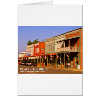 PLAINS, GEORGIA - Home of President Jimmy Carter Cards