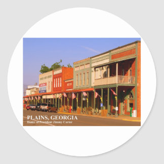 PLAINS, GEORGIA - Home of President Jimmy Carter Classic Round Sticker