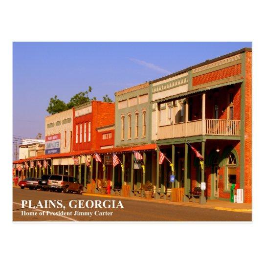 PLAINS, GEORGIA - Home of President Jimmy Carter Postcard