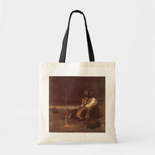 Plains Herder by NC Wyeth, Vintage Western Cowboys Canvas Bags