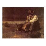 Plains Herder by NC Wyeth, Vintage Western Cowboys Postcard