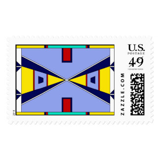 Plains Native American Beadwork - Blue Postage Stamps