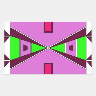 Plains Native American Beadwork - Purple/Green Rectangular Sticker