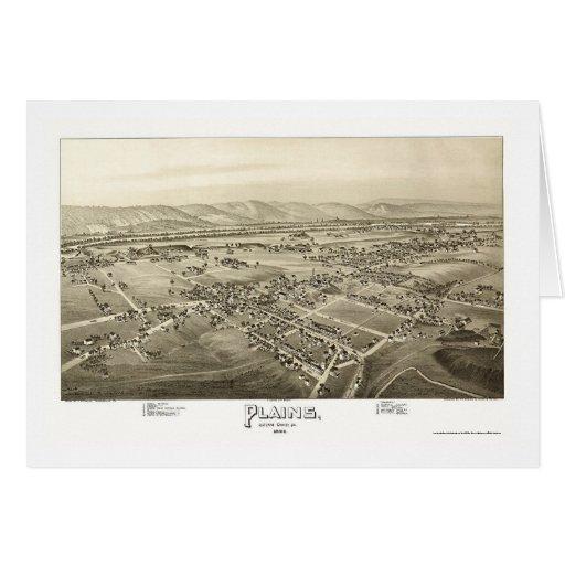 Plains, PA Panoramic Map - 1892 Card