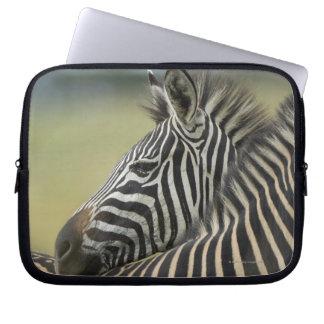 Plains Zebra (Equus quagga) pair, Haga Game Laptop Computer Sleeves