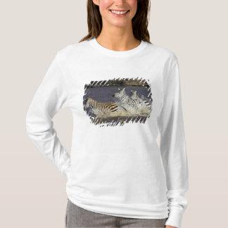 Plains Zebra (Equus quagga) running in water, T-Shirt