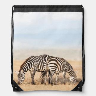 Plains Zebra Or Common Zebra (Equus Quagga) 2 Drawstring Bag