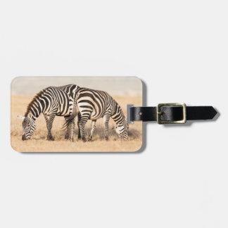 Plains Zebra Or Common Zebra (Equus Quagga) 2 Tag For Luggage