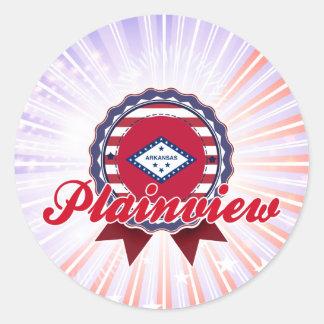 Plainview AR Round Stickers