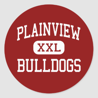 Plainview - Bulldogs - High - Plainview Texas Round Sticker