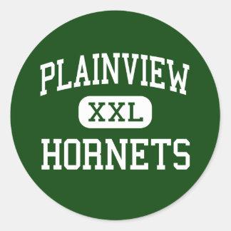 Plainview - Hornets - High - Glenmora Louisiana Round Sticker