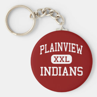 Plainview - Indians - High - Ardmore Oklahoma Basic Round Button Keychain