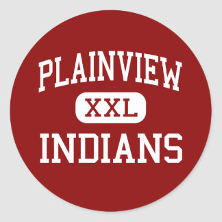 Plainview - Indians - Middle - Ardmore Oklahoma Classic Round Sticker