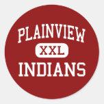 Plainview - indios - centro - Ardmore Oklahoma Pegatinas