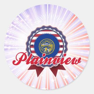 Plainview NE Round Stickers