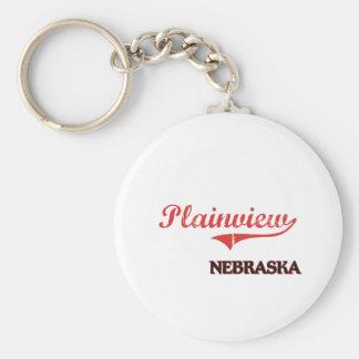 Plainview Nebraska City Classic Basic Round Button Keychain