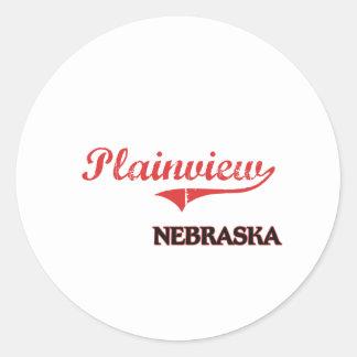 Plainview Nebraska City Classic Classic Round Sticker