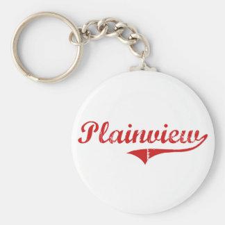 Plainview Nebraska Classic Design Basic Round Button Keychain