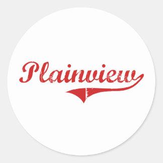 Plainview Nebraska Classic Design Round Sticker