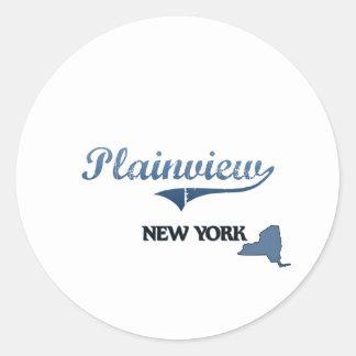 Plainview New York City Classic Round Stickers
