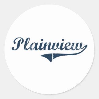 Plainview New York Classic Design Round Stickers