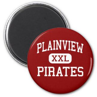 Plainview - piratas - alto - Plainview Nebraska Imán Redondo 5 Cm