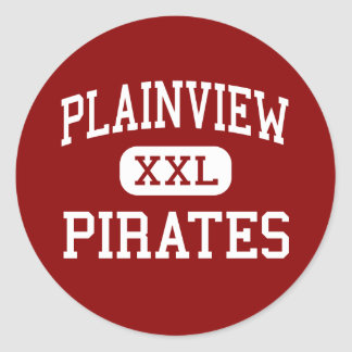 Plainview - Pirates - High - Plainview Nebraska Round Stickers