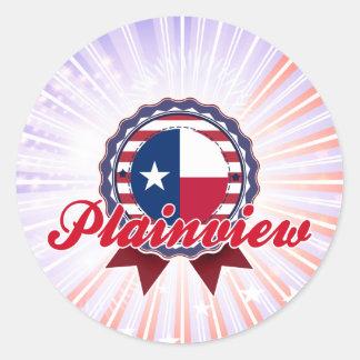 Plainview TX Round Sticker