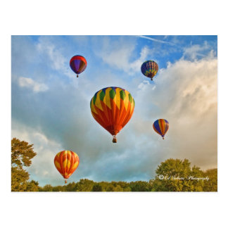 Plainville Ct Hot Air Balloons Postcard