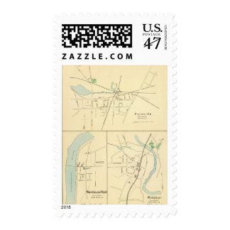Plainville, Warehouse Pt, Windsor Postage