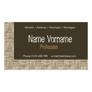 plaited Double-Sided standard business cards (Pack of 100)