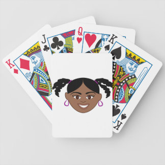 Plaits Girl Face Bicycle Playing Cards