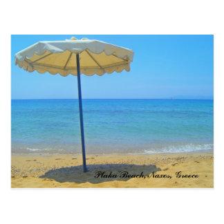 Plaka Beach, Naxos, Greece Postcard