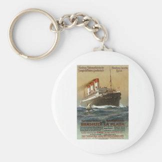 Plakat der Hamburg 1899 - Cruise Ship Liner Basic Round Button Keychain