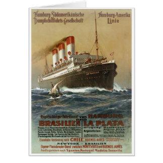 Plakat der Hamburg 1899 - Cruise Ship Liner Card