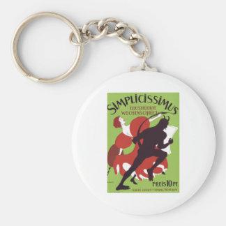Plakat Heine - Simplicissimus 1896 Basic Round Button Keychain