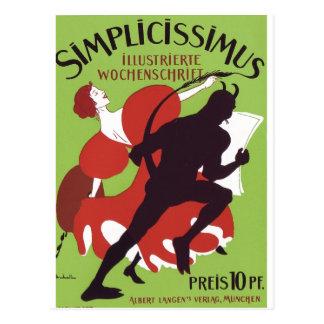 Plakat Heine - Simplicissimus 1896 Postal