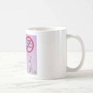 Plakatieren prohibieron taza de café