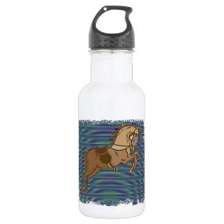 Plalyful Brown HORSE Sketch 18oz Water Bottle