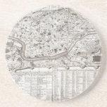 Plan 1721 de Chatelain o mapa de Roma Italia Geogr Posavasos Diseño