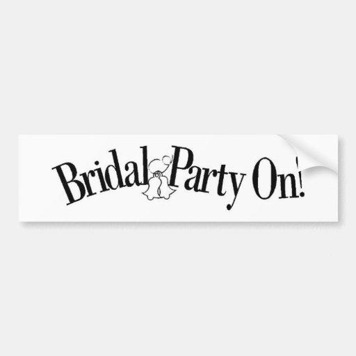 Plan 42 del boda pegatina de parachoque