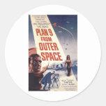 Plan 9 del cartel de película del espacio exterior etiquetas