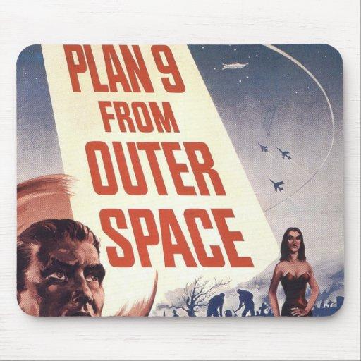 Plan 9 del cartel de película del espacio exterior tapetes de ratón