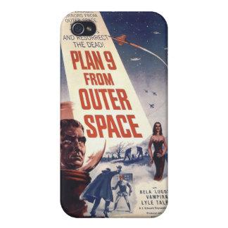 Plan 9 del caso retro del iPhone 4 del espacio ext iPhone 4 Cárcasa