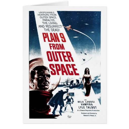 """""""Plan 9 From Outer Space"""" Card"""