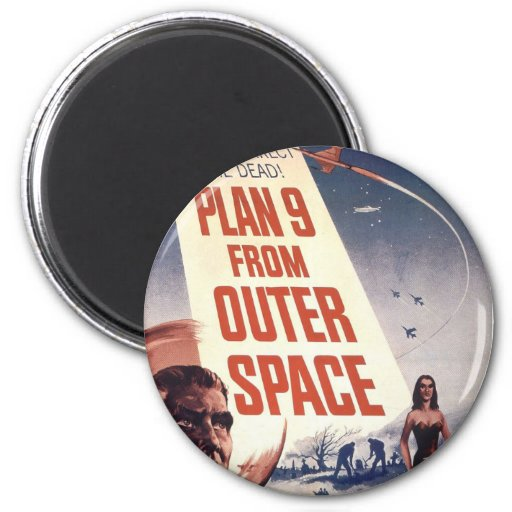 Plan 9 From Outer Space Movie Poster 2 Inch Round Magnet