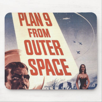Plan 9 From Outer Space Movie Poster Mouse Pad